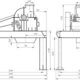 схема дробилки молотковой МПС-950