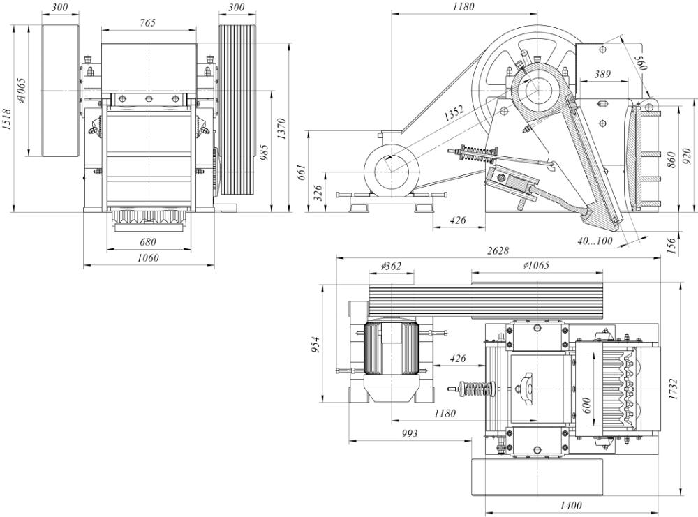 Дробилка щековая смд-508
