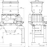 схема дробилки валковозубчатой ДВЗ-2М