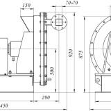 схема мельницы центробежной трехступенчатой