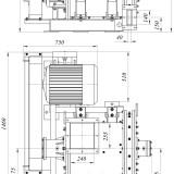 схема мельницы промышленной комбинированной МПС-K1