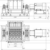 схема мельницы шахтной МСМ-1000
