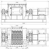 схема мельницы шахтной МСМ-1300